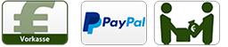 Vorkasse,Paypal,Bezahlung bei Abholung